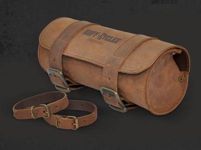 Tool Bag Leather Black - Ruff Cycles | Custom cruisers